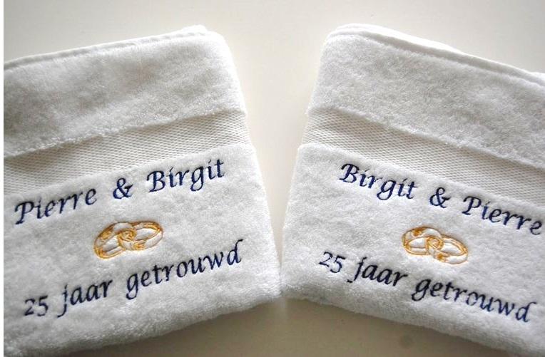 Betere 25 jaar getrouwd cadeau | 25 jarig huwelijkgeschenk - BorduurKado YG-83