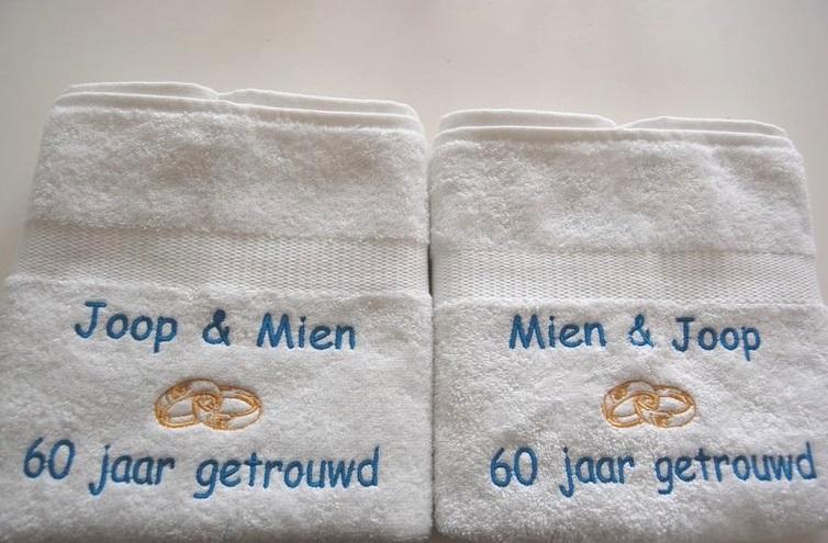 Nieuw 60 jaar getrouwd huwelijkskado - BorduurKado.nl Voor elke ZK-79