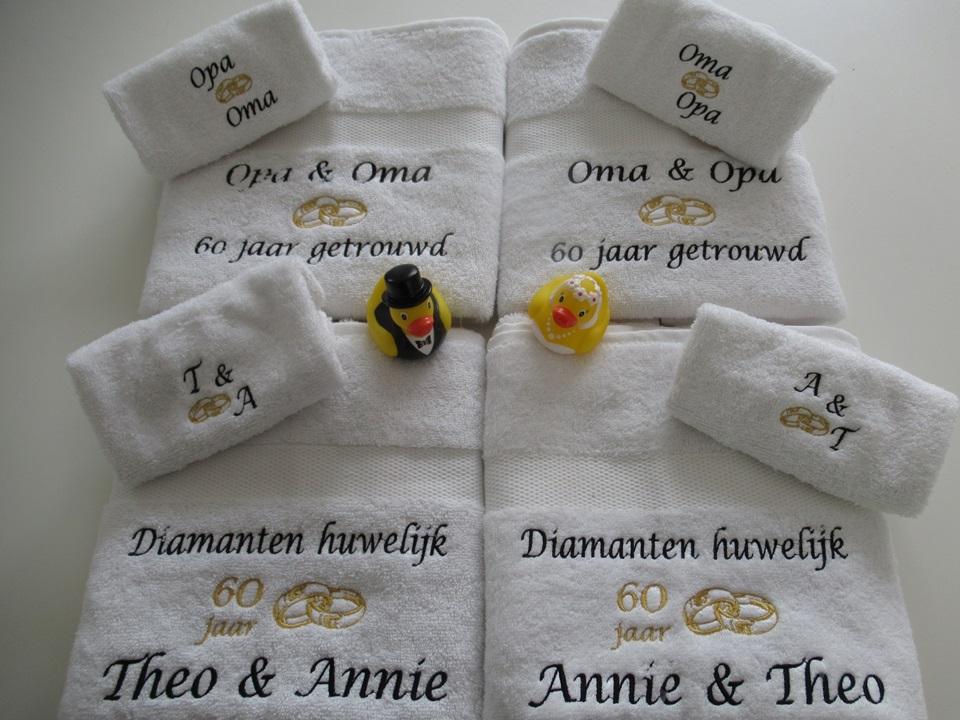 Ongekend Diamanten huwelijk cadeau   60 jaar getrouwd huwelijkskado PT-67