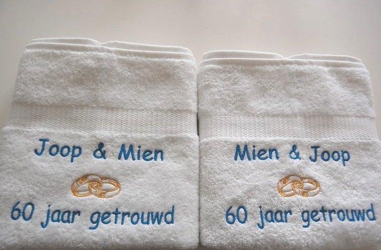 Welp 60 jaar getrouwd huwelijkskado - BorduurKado.nl Voor elke FZ-27