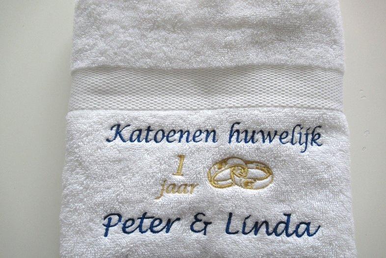 Wonderbaar Katoenen huwelijk cadeau | 1 jaar getrouwd huwelijkskado UI-36
