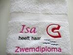 Zwemdiploma C Wit handdoek met Naam