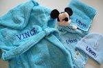 Spuugdoekje met naam Baby Blauw
