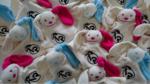 Knuffelpop met bedrijfslogo / Tutpoppetjes met Logo