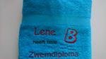 Zwemdiploma B Blauwe handdoek met Naam