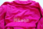 Dames badjassen / Donkerroze badjas maat S, M, L en XL