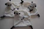 Panda knuffeldoek met Naam