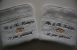 Handdoek ...  jaar getrouwd