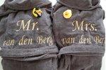 Dames & Heren badjassen / Badjas Antraciet Grijs maat S, M, L en XL