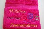 Zwemdiploma A B C Badlaken met Naam