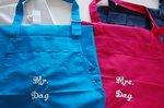Keukenschort met naam Navy Blue