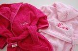 Badjas licht roze en donkerroze