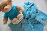 kraamcadeau blauwe badjas