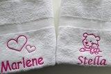 handdoek met hartjes