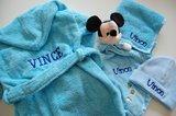 baby blauwe badjas