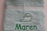 mint kleurige handdoek