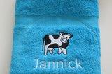 handdoek met koe