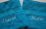 blauwe handdoeken