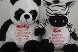 Panda en Zebra knuffel