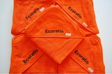 badcape oranje met naam