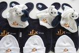 knuffelpoppetjes met logo geborduurd