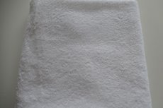 Saunalaken Wit met naam ( afmeting 100x200cm )