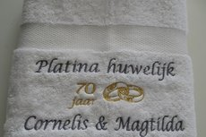 Platina huwelijk cadeau | 70 jaar getrouwd