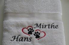 romantisch cadeau handdoek