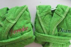 Badjas met Naam groen
