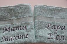 Handdoek met naam Mint