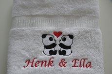 Liefdes handdoek met beren