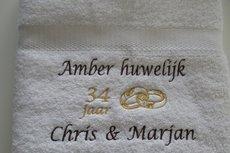Amber huwelijk cadeau | 34 jaar getrouwd