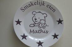 Kinderbord met naam en beertjes