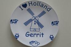 Delfts blauw bord met molen