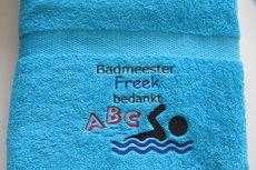 Badmeester Bedankt handdoek met naam