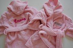 Badjas Baby Roze / lichtroze met Naam