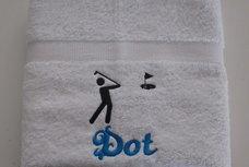 Golf handdoek met naam