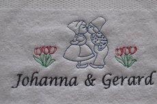 Handdoek Ik hou van Holland liefdes paar
