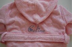 Kinderbadjas lichtroze Roze 1-2 jaar