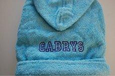 Kinderbadjas lichtblauw 1-2 jaar