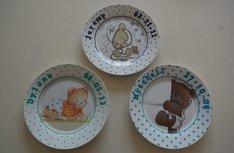 Kinderbordje met foto of Geboortekaart