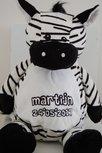 Geboorte knuffel Zebra 40 cm