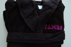 Badjas met Naam Zwart