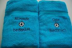 Bedankt cadeau voetbaltrainer Badlaken
