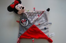Minnie Mouse Knuffeldoek  Rood / Zwart met Naam
