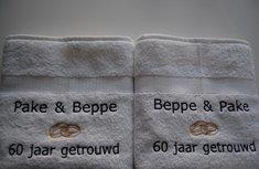 Pake & Beppe jubileum trouwcadeau / huwelijksgeschenk