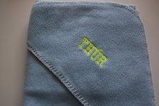 Fleece wikkeldeken Lichtblauw met Naam