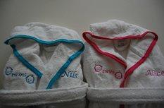 Tweeling badjassen / badjas tweelingen