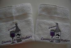 Handdoek met Trouwkaart thema