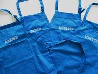 Keukenschort met naam Blauw